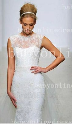 Custom Made Open Back Bridal Gowns Online 2014 Bateau Ruffles Tulle Lace  Wedding Dress For Sale BO2694 e1ee10410b7