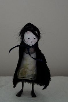 OOAK Paper Clay Art Doll  Birdie by anthropomorphica on Etsy, £70.00