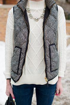 Styled Herringbone Vest