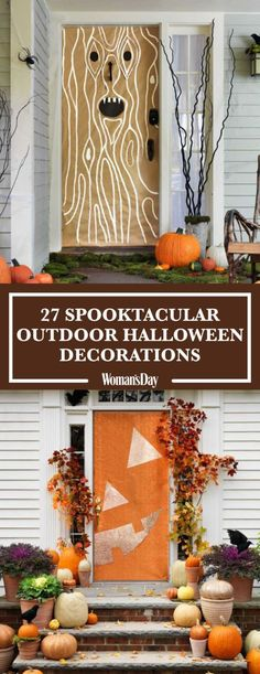 Here youll find fun and easy diy halloween decorations and ideas including door decorations lawn ideas pumpkin decorating ideas