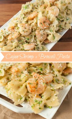Creamy Cajun Broccoli and Shrimp Pasta