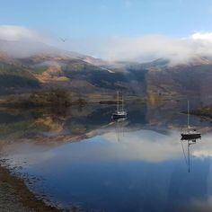 Loch Leven in Ballachulish, Scotland's Highlands.