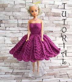 Sukienka na szydełku dla Barbie 1