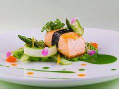 Salmon - asparagus risotto - lemon confit