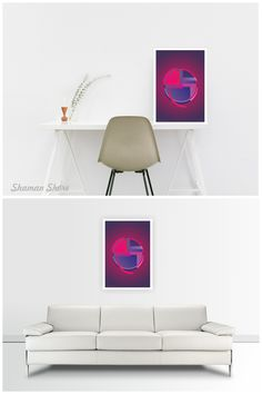 Magenta Wall Decor Art Print Digital Download, Printable Abstract Wall Art, Contemporary Art Poster, Modern Home Décor, Abstrakte Wanddekor, Decoración abstracta de la pared, Decoração de parede abstrata