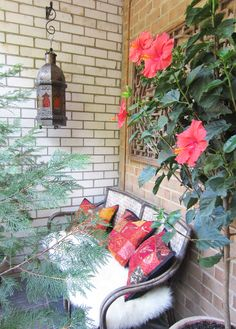 balcony indonesian settee hibiscus by apartment15