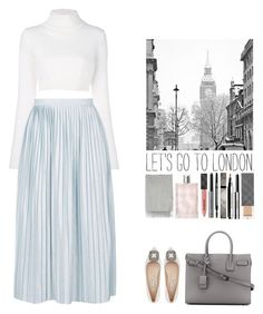 """""""Alice."""" by noemiecalot ❤ liked on Polyvore featuring Balmain, Topshop, Manolo Blahnik, Yves Saint Laurent, Burberry and Acne Studios"""