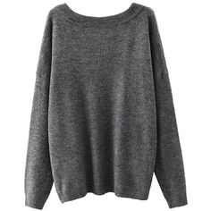 Yoins Yoins Grey Scoop Collar Dropped Shoulder Jumper (1.855 RUB) ❤ liked on Polyvore featuring tops, sweaters, grey, sweaters & cardigans, grey sweater, grey jumper, jumpers sweaters, cotton sweater and drop shoulder sweater