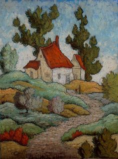 'Nearly Back Home' by Mark-Drake Briscoe Happy Paintings, Paintings I Love, Social Art, Impressionist Paintings, Naive Art, Vincent Van Gogh, Landscape Art, Les Oeuvres, Watercolor Art