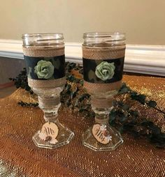 Camouflage Wine Glasses  Rustic Wine Glasses  Redneck Wine