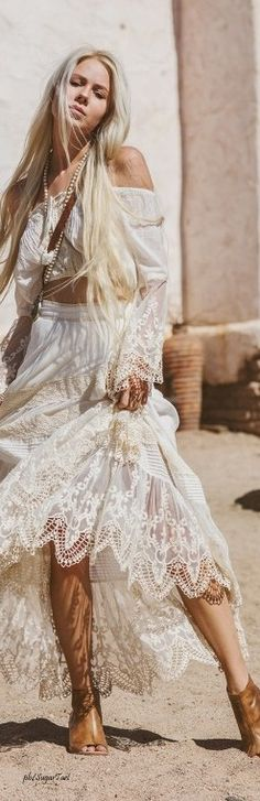 ╰☆╮Boho chic bohemian boho style hippy hippie chic bohème vibe gypsy fashion indie folk the 70s . ╰☆╮ lace.