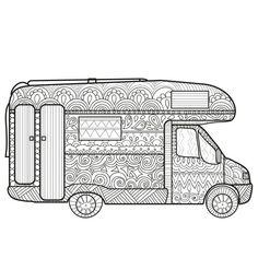 wohnmobil zum ausdrucken und ausmalen | autos malen, ausmalen und wohnmobil