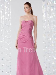 A-line Sweetheart Floor-Length Chiffon Bridesmaid Dress - Promtrend.com