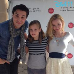 Dove Cameron & Ryan McCartan with fans in Texas August 16, 2014