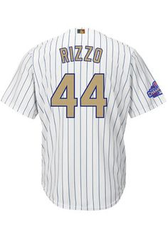Anthony Rizzo Chicago Cubs Mens Replica Gold Collection Jersey