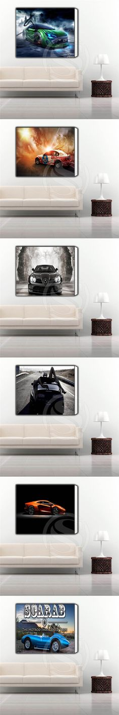 Custom Cool car Classic Poster Print on Canvas, Home Decoration Framed wall art, Ready to hang More Size SQ0703-POR543 $26.99