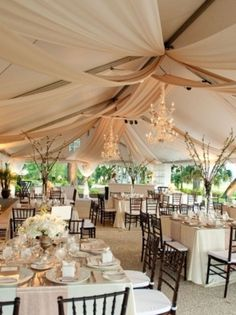 Have you been tasked with planning an outdoor wedding? Wedding tent is a common type of organization of the outdoor wedding space. Outdoor Wedding Reception, Tent Wedding, Wedding Events, Our Wedding, Dream Wedding, Tent Reception, Outdoor Weddings, Wedding Receptions, Wedding Tables