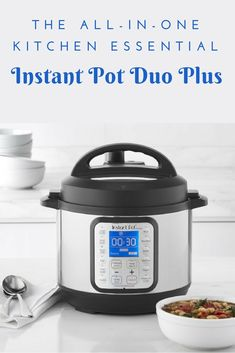 Instat Pot is the all-in-one kitchen essential. You can make slow cooked meals fast. It include pressure and slow cooking, sautéing, yogurt making and sterilizing. This compact Instant Pot is ideal for preparing small meals and side dishes, vegetables and other accompaniments such as rice. #kitchengadgets #ad #instantpot