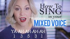 """Learn how to strengthen your """"mixed voice"""", get rid of your vocal """"break"""" & sing higher & more healthy!"""