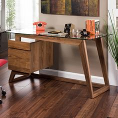 dwell - Poise walnut desk