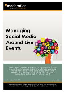 (November 2012) Social media involvement adds the 'wow factor' to live events. This white paper explains how to manage social media around live events, drive engagement and improve the overall live event experience, with some suggestions for the tools to help you do it.