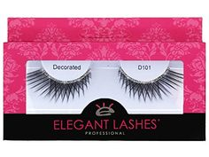 Elegant Lashes D101 (Long Criss-Cross False Eyelashes with Silver Glitter Band) Halloween Dance Rave Costume *** See this great product. (Amazon affiliate link)