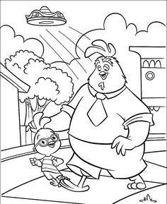 Chicken Little Kiss Abbye Coloring Page Chicken Little