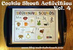 cookie sheet letter activities... amazing!