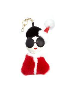 Alice Olivia, Purses And Handbags, Metal Working, Santa, Charmed, Fur, Key Chains, Christmas Ornaments, Holiday Decor