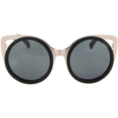ERDEM Tortoiseshell Acetate black and white sunglasses (1.110.735 COP) ❤ liked on Polyvore