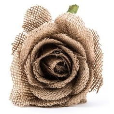 """Add dainty flair, gorgeous, subtle color, and fun texture to your creative projects and decor with this 8"""" Brown Burlap Rose Pick! The adorable rose features a beautiful shade of natural brown burlap, along with green leaves and a brown stem. Add several of these pretty picks to a wreath, a bouquet, or another DIY home decor project for a stunning, unique look!    Dimensions:      Stem Length: 5 3/4""""    Total Length: 8""""    Bloom Width: 4"""""""