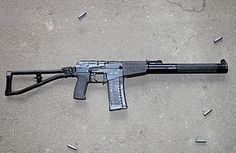 """The AS """"Val"""" (Avtomat Special'nyj Val, Russian: Автомат Специальный Вал or Special Automatic Rifle, code name: """"Shaft"""") is a Soviet designed assault rifle featuring an integrated suppressor. It was developed during the late 1980s by TsNIITochMash (Central Institute for Precision Machine Building) and is used by Russian Spetsnaz special forces and the MVD, FSB, and select units of the Russian Army. Since 1987, it was added to the arsenal of the Soviet Army and the KGB."""