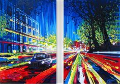 No paintbrush? No problem. Artist Amy Shackleton, uses lots of paint to create these vivid colored paintings without a paint brush. Paint Brushes, Online Art Gallery, Textile Art, Cool Photos, Amy, Eye Candy, Cool Stuff, Canvas, Create