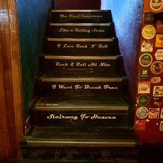Stairway to heaven or highway to hell. Irish Pub Interior, Bar Interior, Interior And Exterior, Highway To Hell, Prophetic Art, Heaven And Hell, Stairway To Heaven, Life Images, Stairways