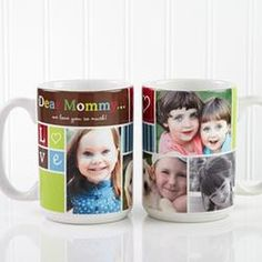 Large Personalized Picture Collage Coffee Mugs