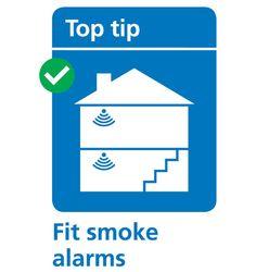 Fit smoke alarms