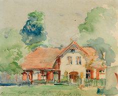 Leon Wyczółkowski | Goscieradz Residence, 1929 | watercolour