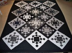 black & white quilts | Black and White Quilt – Sewing Projects | BurdaStyle.com