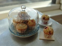1:12 scale // Miniature plate of muffins by Kimsminibakery on Etsy