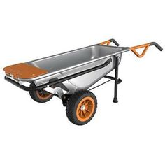 Worx 2 Wheeled Yard Cart Dolly Aerocart Multifunction Wheelbarrow w/ Flat Tires Yard Cart, Free Tire, Wheelbarrow Garden, Lift Design, Work System, Esschert Design, Utility Cart, Good Good Father, Dremel