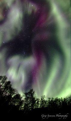 Aurora November 9, 2013 near Wasilla, Alaska. Words fail to describe everything we perceive.