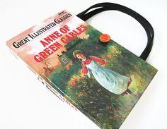 Book Purse Anne of Green Gables Book Handmade by retrograndma, $39.99