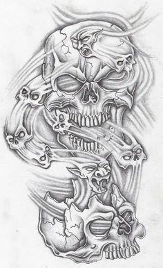 ten skullz by markfellows.deviantart.com on @deviantART