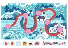 Seikkailukone | tulostettava | paperi | kartta | peli | tehtävä | talvimetsä | lapset | game | map | winter | forest | children | kids | free printable | Pikku Kakkonen