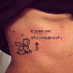 Alluring Little Prince Rib Tattoo