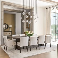 Keeping friends and relatives nearby was key for the design of a California-inspired Dallas house built and furnished for entertaining Stucco Walls, Walnut Dining Table, Interior Decorating, Interior Design, Cabinet Styles, Indoor Outdoor Living, Visual Comfort, Inspired Homes, House Design