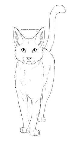 Cat - Free Lineart by Freewolf7 on DeviantArt