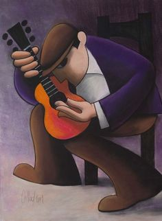 George Callaghan -  Guitar Music Images, Art Images, Music Drawings, Watercolor Painting Techniques, Spanish Art, Guitar Painting, Arte Pop, Chalk Pastels, Line Drawing