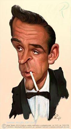 Caricatura de Sean Connery  ~ Ʀεƥɪииεð вƴ╭•⊰✿ © Ʀσxʌиʌ Ƭʌиʌ ✿⊱•╮