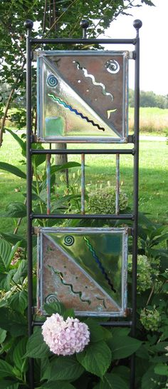 """My recycled copper & fused garden trellis.  It was a """"bear-cat"""" to make!"""